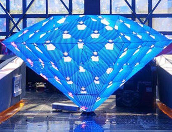 P5 Indoor Triangle Shape Nightclub DJ Booth LED Display Screen