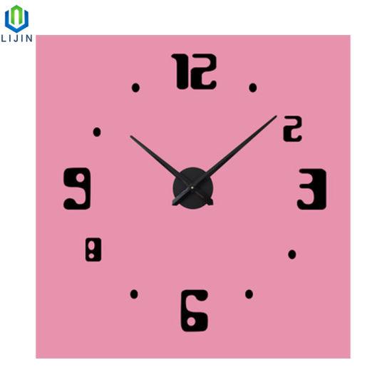 Acrylic European Decorative Wall Clock DIY Super Simple Digital Wall Clock