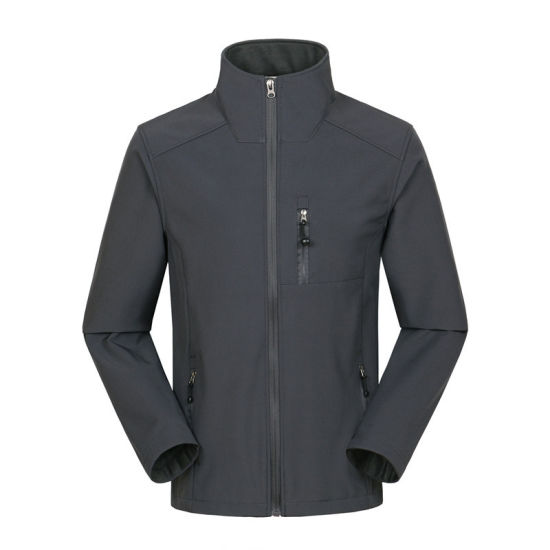 Men's Windproof Waterproof Fleece Lined Zip up Soft Shell Jacket