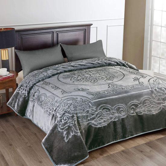 Heavy Korean Mink Blanket Soft and Warm Printed Mink Blanket for Autumn, Winter, Bed, Home, Gifts