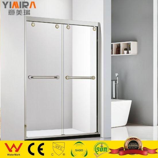Factory High Quality Bathroom Two Sliding Glass Shower Door Shower Partitions
