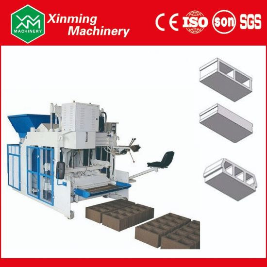 Qtm10-15 Mobile Automatic Hydraulic Concrete Hollow Block Machine Soild Brick Making Machine with Wheel