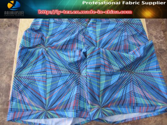 Polyester Pongee Spandex Printing Fabric, Printed Stretch Fabric