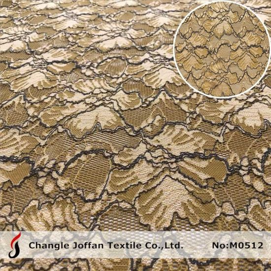 Fashion Stretch Elastic Lace Fabric African Lace for Apparel Accesssories (M0512)