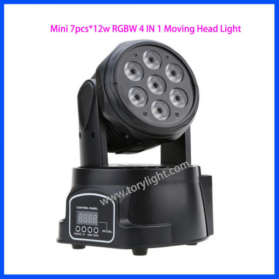 Moving Head 7PCS*12W RGBW Mini Wash Light pictures & photos