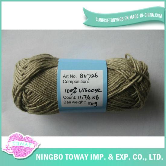 100% Viscose Cross Stitch Thread Weaving Wool Knitting Yarn