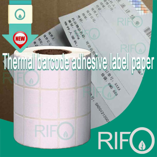 BPA Free Theraml Transfer Labels White BOPP Jumbo Roll Material pictures & photos