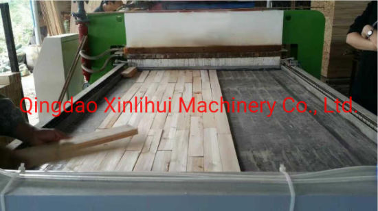 Wood Edge Bonding Finger Joint Board Machine for Door Wood Board Pneumatic Clamp Composer Jointing Splicing Machine