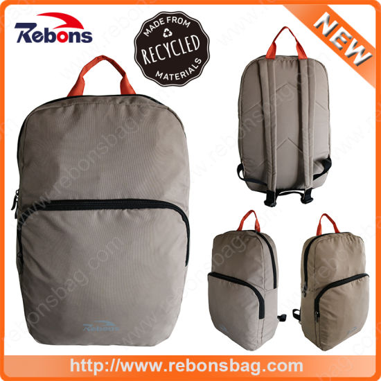 Portable Water Resistant Folding Retro Rucksack Bag RPET Backpacks Made From Recycled Pet Fabric