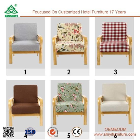 china comfortable single sofa chair sturdy wood frame single seater