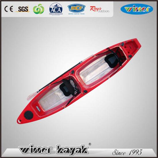 China Winner Transparent Double Seats Bottom Clear Kayak