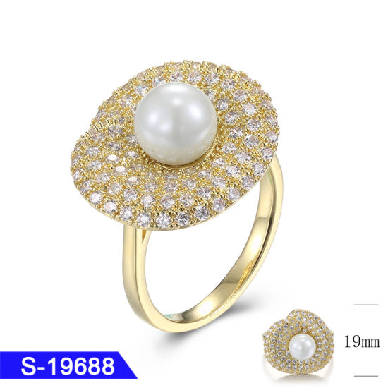 New Model Fashion Jewellery 925 Sterling Silver Wedding Pearl Ring for Women pictures & photos