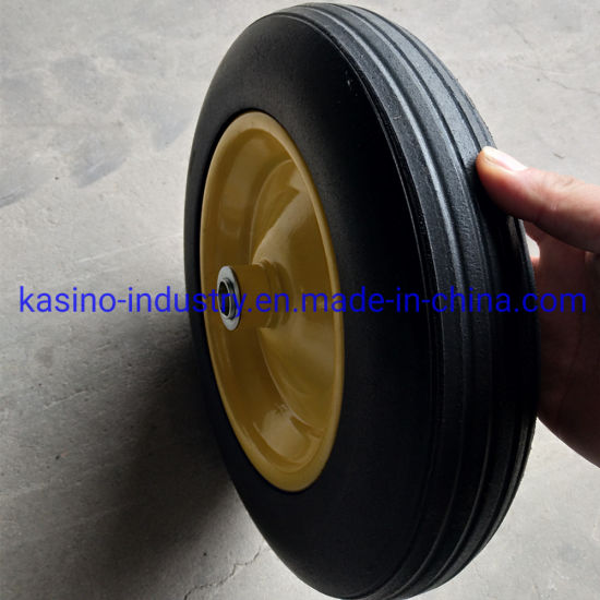 Manufacturing 14X4 Solid Rubber Powder Wheel for Tool Cart pictures & photos