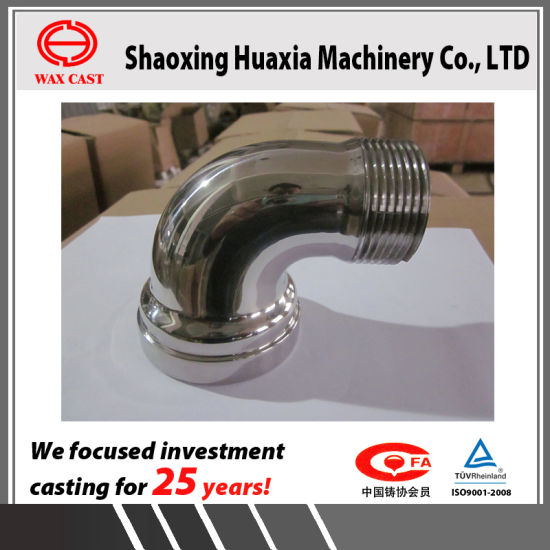 Investment Casting Lost Wax Casting Stainless Steel Valve Parts 90deg Elbow Swivel