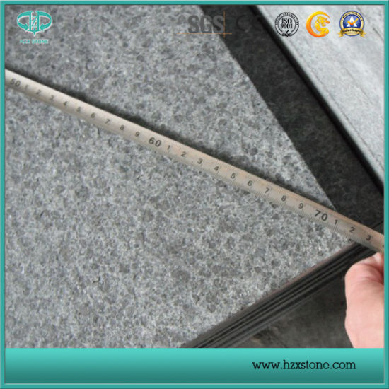 G684/ Flamed/Polished/Honed/Bush-Hammered/Swan-Cut/Natural/Pineapple Black Granite for Floor Tiles/Paving Stone/Slabs/Tiles/Composite Tile/Countertops/Vanit pictures & photos