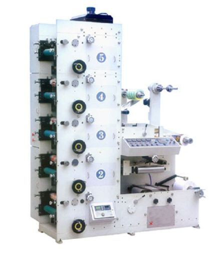 Stack Label Flexo Printing Machine with Die Cutting Stations