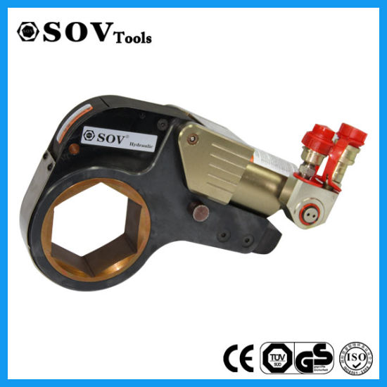 Aluminium Hollow Plunger Hydraulic Torque Wrench with Reducing Sleeve pictures & photos