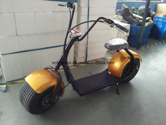 2016 Popular Harley Style Electric Scooter with Big Wheels, Fashion City Scooter Citycoco pictures & photos