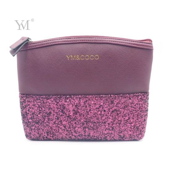 Professional Factory Makeup Cosmetic Toiletry Bag with Sequin