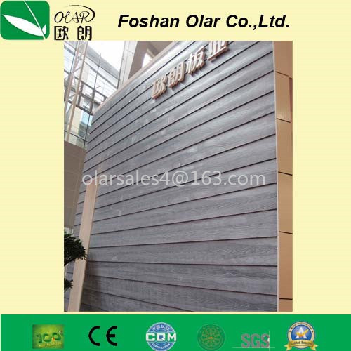 Wood Grain Fiber Cement Siding Decoration Board (building material)