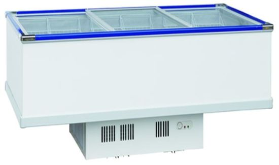 Supermarket Commercial Island Chest Freezer For Cooling Meat Fish