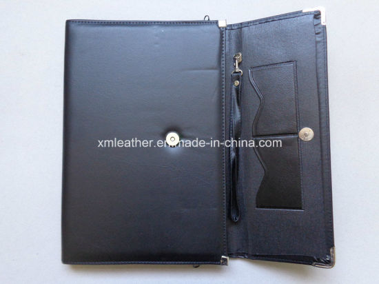 Black A4 PU Leather Envelop Folder with Button Closure pictures & photos