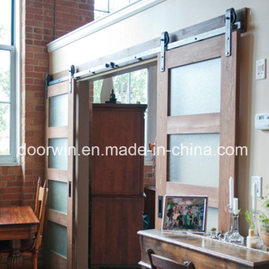 American oak wood frame shower barn door sliding frosted glass door american oak wood frame shower barn door sliding frosted glass door from china planetlyrics Gallery