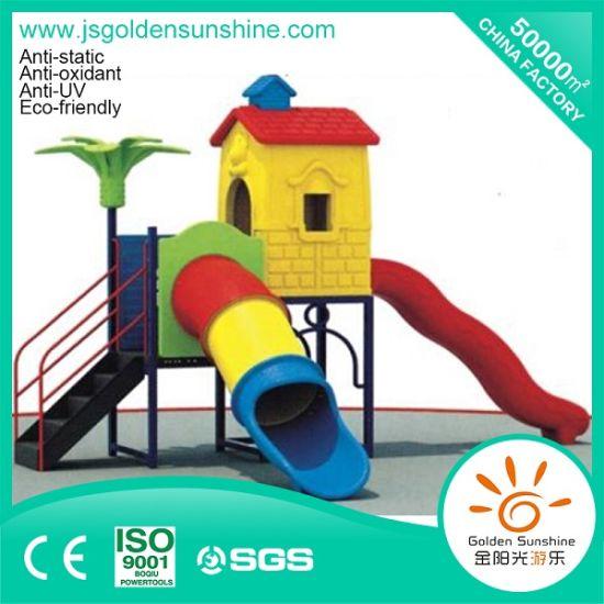 Children Plastic Playground Amusement Equipment Slide with Ce/ISO Certificate