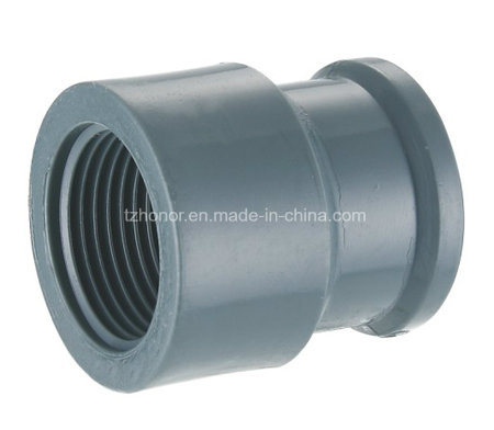 PVC Female Coupling M/F Socket Water Supply Pressure Pipe Fitting DIN Standard NBR5648 (T08) pictures & photos