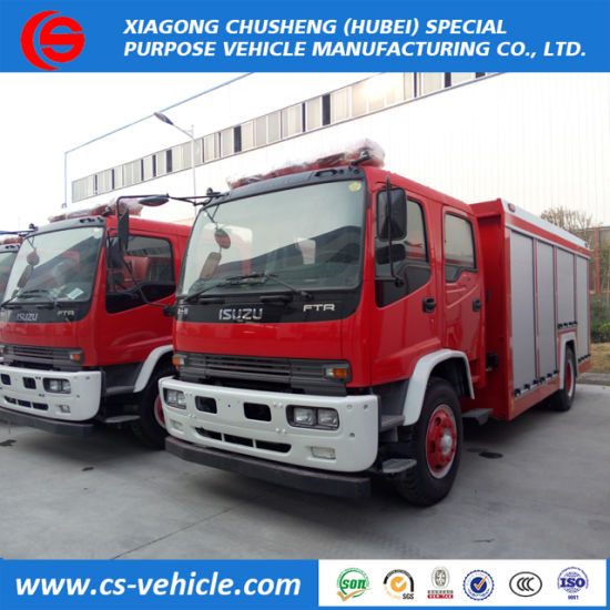 for Isuzu 6 Wheels 6000 Liters Fire Truck