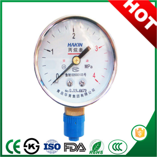 Fashion Type N2/H2/CO2 Gas Pressure Gauge with Good Performance