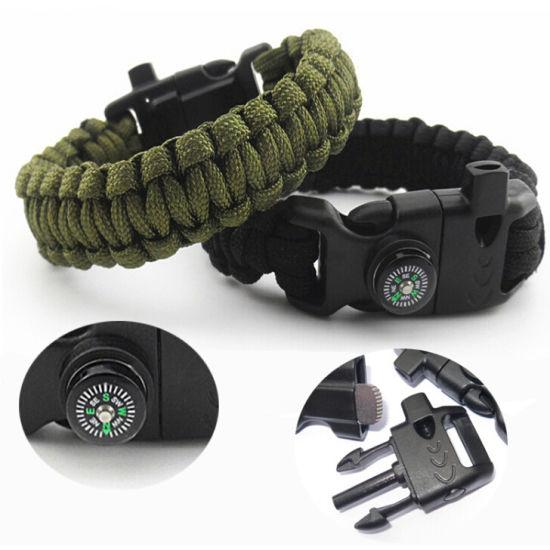 CFA3 Multifunctio Buckle Fire Starter Survival Tool Men/'S Plastic Compass