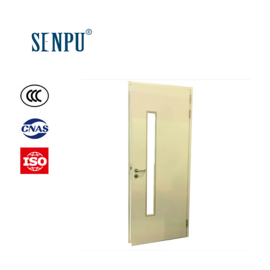 GB Standard Steel Fire Rated with Vision Glass Exterior Door