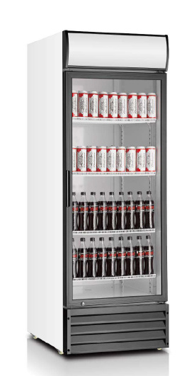 Glass Single Door Upright Cooler with Tropical Type Strong Cooling System pictures & photos