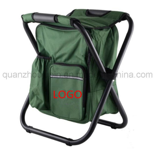 OEM Outdoor Oxford Folding Chair with Cooler Bag Backpack