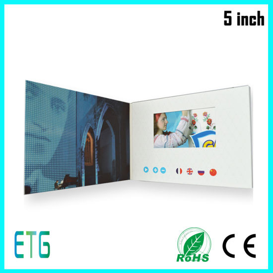 LCD Screen Card / Video Greeting Card / Video Brochure pictures & photos
