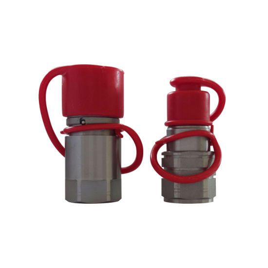 Naiwo 1/2'' NPT Push to Connect Quick Couplers Loader Flat Face Coupling (steel)