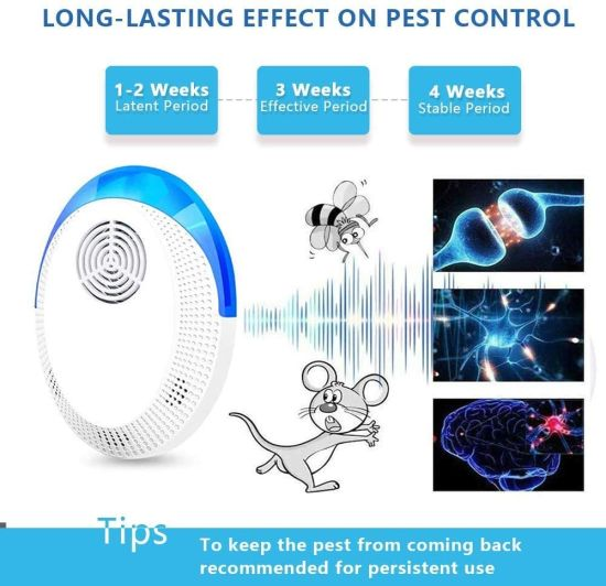 Plug in Indoor Ultrasonic Pest Repeller for Mosquito Insects Cockroaches Mouse Rats Bug Spider Ant Rodent