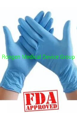 510K Powder Free Disposable Examination Nitrile/Latex/Vinyl Gloves 100% L/C Sign with Factory pictures & photos