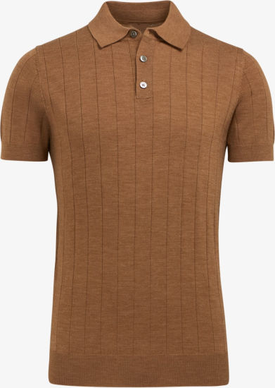 Fashion and Gentle Camel Polo Pure T-Shirt Sweater Clthes