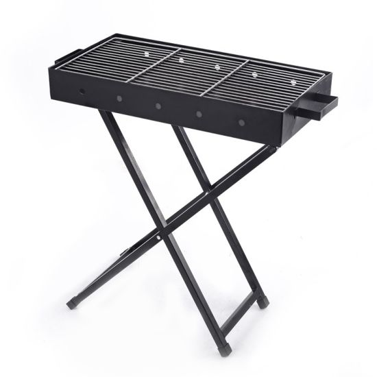 3 Sizes Adjustable Portable Square Folding Charcoal Outdoor Barbecue BBQ Grill Rack