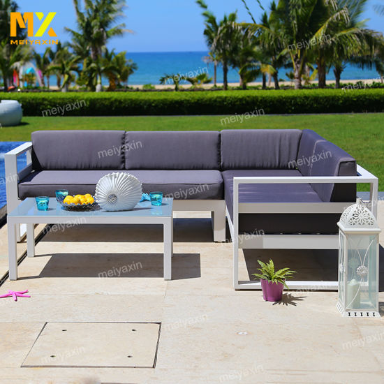 Hot Sale Outdoor Garden Sofa Furniture with Simple Frame Structure