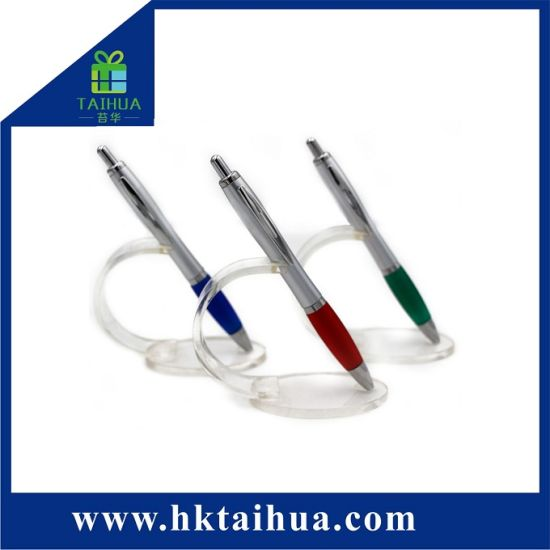 Wholesale Inexpensive Plastic Promotion Ballpoint Pen with Company Logo pictures & photos