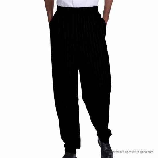 Customized Fashion Workwear Baggy Chef Pant Kitchen Uniforms