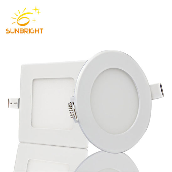Multi Color Recssed kitchen Panel Lamp Lights 3W 5W Round LED Ceiling Lighting