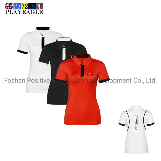 Manufacturer Custom Logo Polyester Golf Women′s Polo Shirt pictures & photos