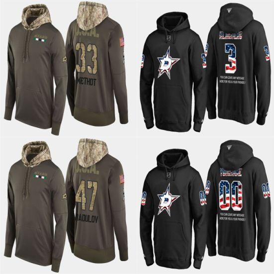 Military USA Flag Stars John Klingberg Alexander Radulov Pullovers Hoodies