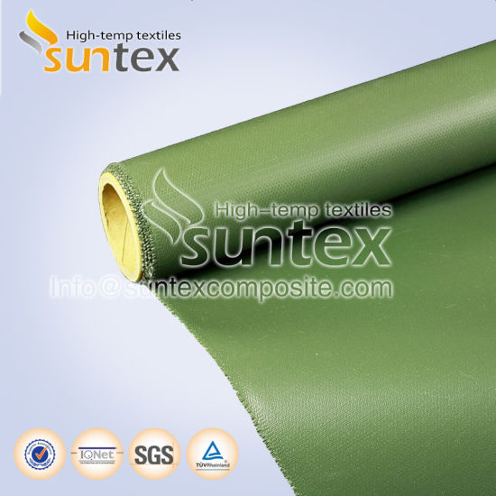 bfe44e232411 Green 0.53mm Silicone Fiberglass Cloth Water and Heat Resistant Fabric  Silicone Rubber Coated Fabric