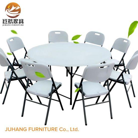 Fine China Outdoor Wedding Party 6Ft Round Plastic Folding Table Spiritservingveterans Wood Chair Design Ideas Spiritservingveteransorg