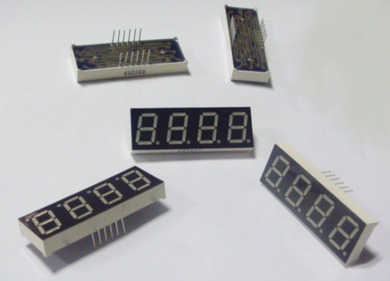 "0.4"" Green 7 Segment Numeric Quad Digits LED Display pictures & photos"